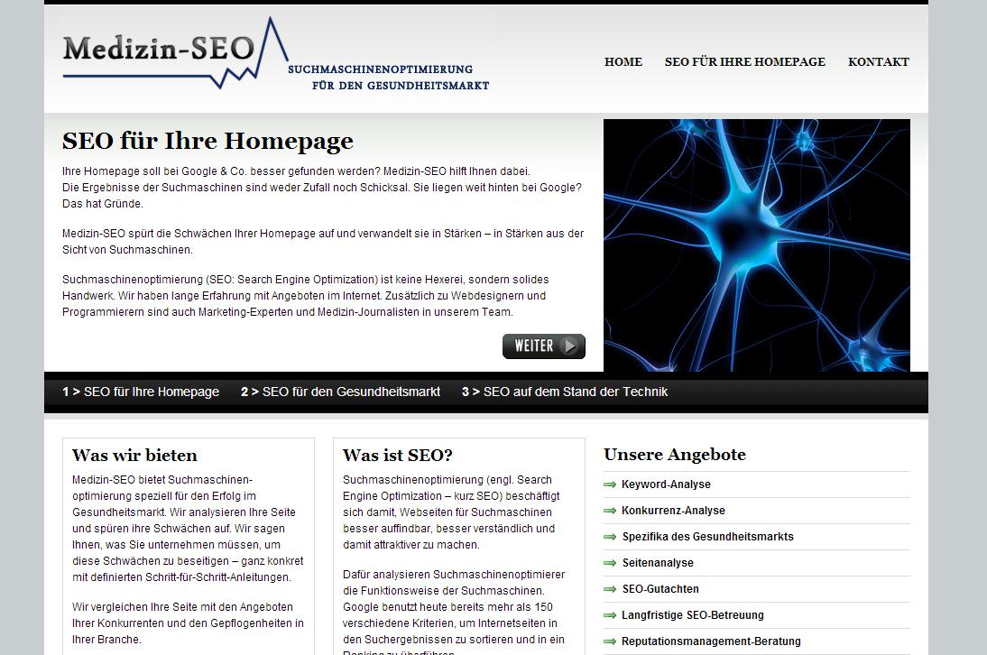"""Medizin-Seo - <a href=""""https://www.medizin-seo.de/"""" title=""""Medizin Seo"""" target=""""_blank"""">www.medizin-seo.de</a>"""