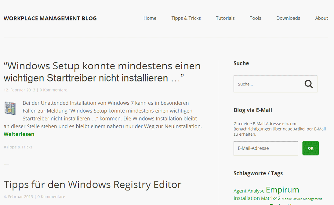 WPM Blog - WPM Blog mit WordPress