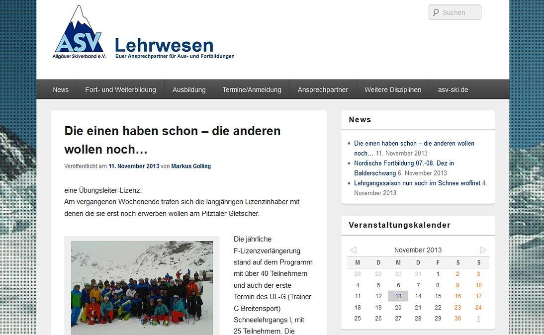 "Asv-skiverband - <a href=""https://www.asv-lehrwesen.de/"" title=""ASV Skiverband Lehrwesen"" target=""_blank"">www.asv-lehrwesen.de</a>"