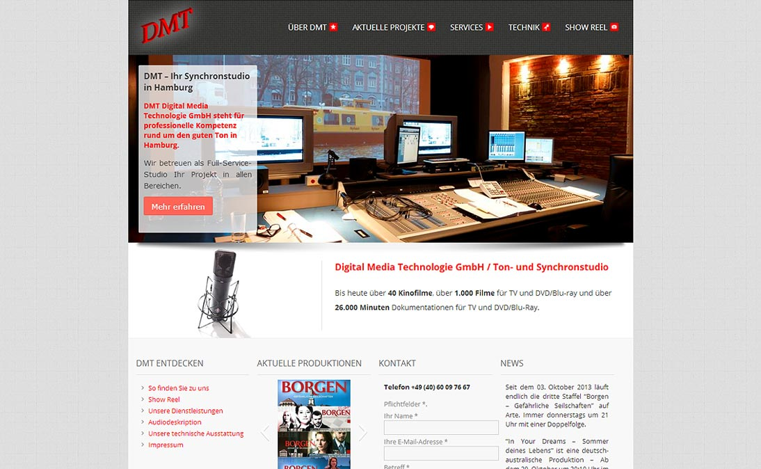 "DMT Studio - <a href=""https://www.dmt-studio.de/"" title=""DMT Studio Hamburg"" target=""_blank"">www.dmt-studio.de</a>"