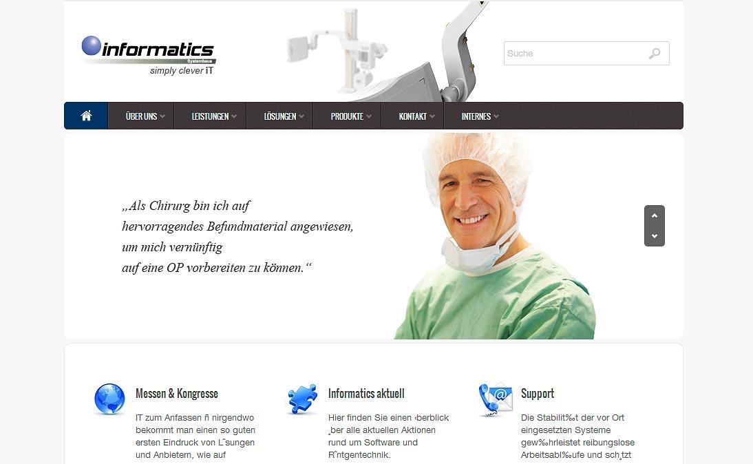 """Informatics Systemhaus - <a href=""""https://www.informatics-systemhaus.de/wp/"""" title=""""Informatics Systemhaus"""" target=""""_blank"""">www.informatics-systemhaus.de</a>"""
