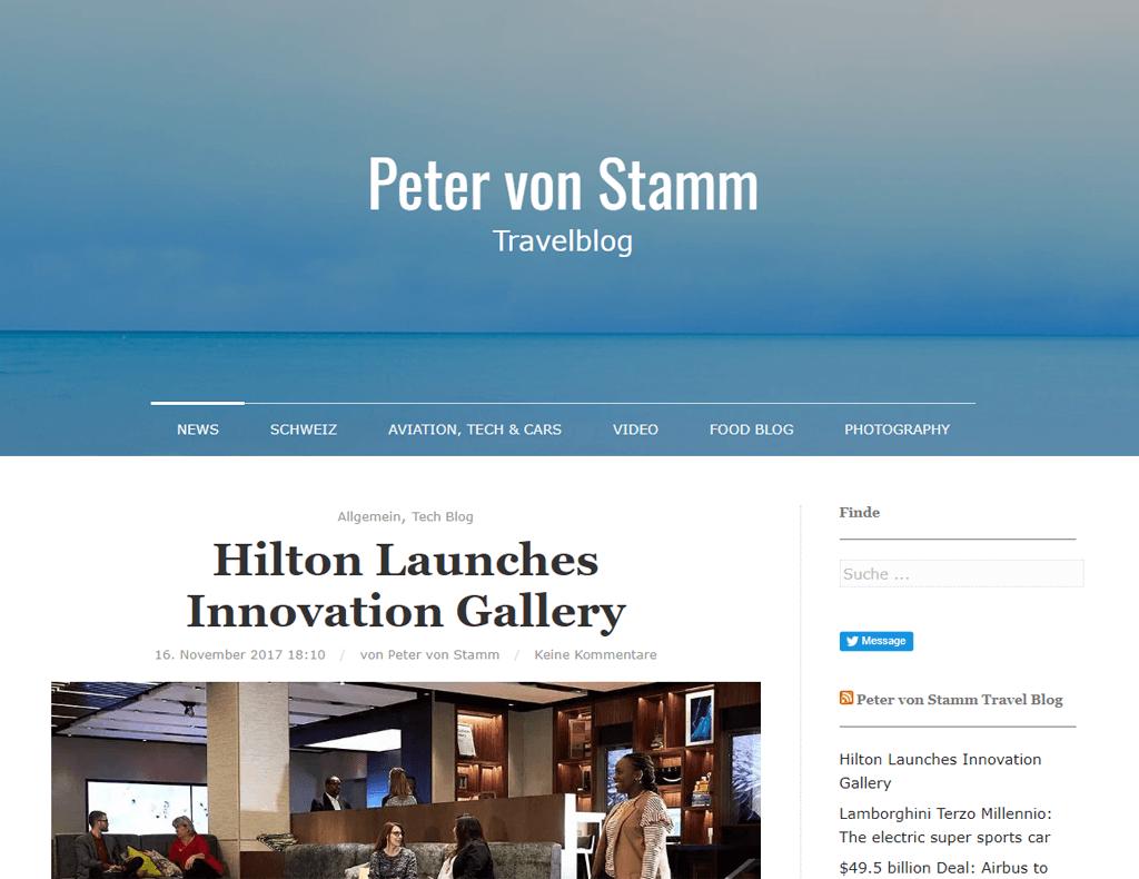 Peter von Stamm Reiseblog