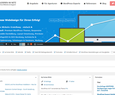 Wordpress Workshop: Backend und Frontend, Adminbereich und Webseite