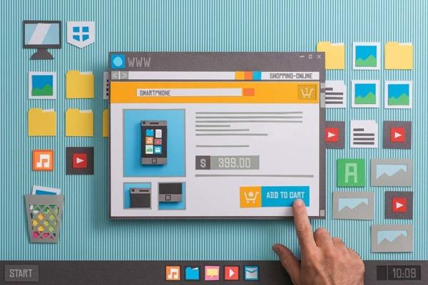 Online Shopping Website Grafik