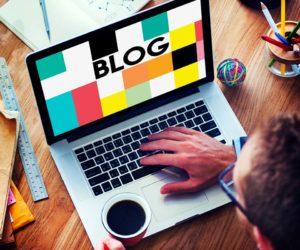Blog Homepage Social Media