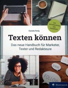Buchcover Texten können: Das neue Handbuch für Marketer, Online-Texter und Redakteure